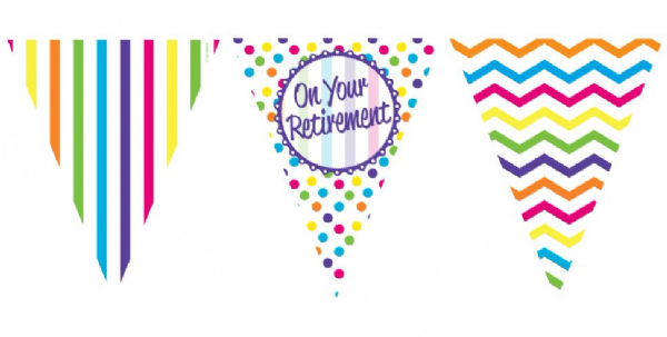 On Your Retirement - Paper Bunting